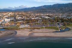 Santa Barbara Cityscape in Californië royalty-vrije stock fotografie