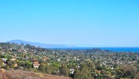 Santa Barbara Coast Line Ocean View from Mountainv Stock Photos