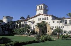 Santa Barbara County Courthouse, Californië stock foto's