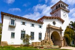 Santa Barbara Courthouse. The County Courthouse of Santa Barbara, California, USA Royalty Free Stock Photography