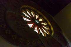 Santa Barbara Courthouse Window stock foto