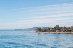 Santa Barbara Cove. An ocean scenic along the coast of Santa Barbara, California on a calm, sunny day royalty free stock images