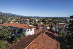 Santa Barbara Downtown View. Downtown Santa Barbara and the Pacific ocean Stock Photos