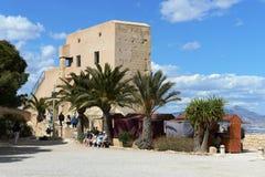 Santa Barbara forteca w Alicante zdjęcie stock
