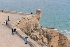 Santa Barbara fortress in Alicante Stock Images