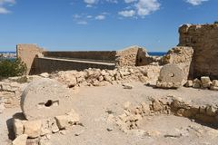 Santa Barbara fortress in Alicante Stock Photo
