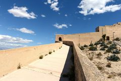 Santa Barbara fortress in Alicante Royalty Free Stock Photos