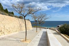 Santa Barbara fortress in Alicante Royalty Free Stock Photography