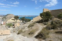 Santa Barbara fortress in Alicante Stock Photography