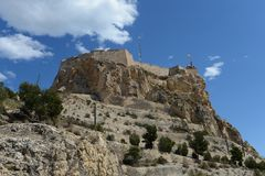 Santa Barbara fortress in Alicante Royalty Free Stock Image