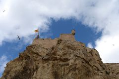 Santa Barbara fortress in Alicante Stock Image