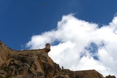 Santa Barbara fortress in Alicante Royalty Free Stock Images