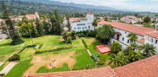 Santa Barbara-gebouwen luchtmening, Californië stock afbeelding