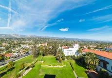 Santa Barbara gedaalde die tuinen hierboven worden gezien van stock foto