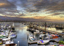 Santa Barbara Harbor. Royalty Free Stock Photo