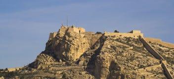 Santa Barbara kasztel Alicante Zdjęcia Royalty Free