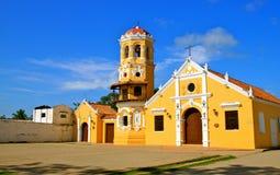 Santa Barbara Kościół, Mompos, Kolumbia zdjęcie stock
