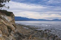 Santa Barbara-kustlijn royalty-vrije stock foto's