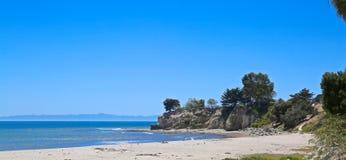 Santa Barbara kustlinje Arkivfoto