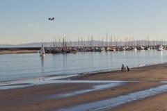 Santa Barbara Marina en el sol de la tarde imagenes de archivo