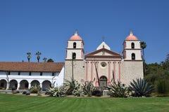 Santa Barbara Mission against a blue sky stock photo
