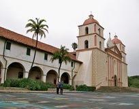 Santa Barbara Mission anziana, California Immagine Stock Libera da Diritti