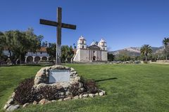 Santa Barbara Mission Exterior Royalty Free Stock Photos