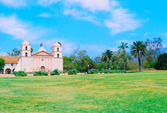 Santa Barbara Mission (film). Historic Santa Barbara Mission, Spanish Franciscans built Royalty Free Stock Photography