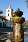 Santa Barbara Mission Fountain Stock Photo