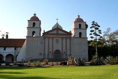 Santa Barbara Mission Stock Photo