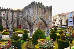 Santa Barbara ogródy Braga, Portugalia obraz royalty free