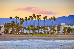 Santa Barbara from the pier stock photography