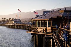 Peaceful pier stock photography