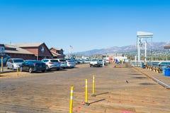 Santa Barbara pier on a sunny day Royalty Free Stock Photography