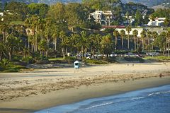 Santa Barbara plaża obrazy royalty free