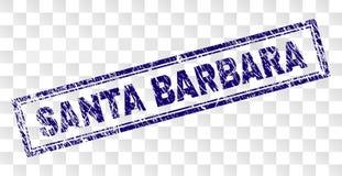 SANTA BARBARA Rectangle Stamp rayée illustration stock