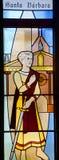 Santa Barbara (Saint Barbara) stained glass Royalty Free Stock Photo