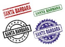 SANTA BARBARA Seal Stamps texturisée endommagée illustration libre de droits