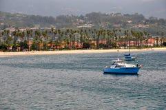 Santa Barbara Shoreline. A view of the shoreline in Santa Barbara, California Stock Image