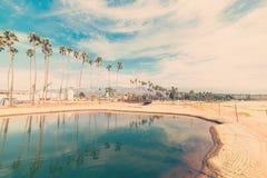 Santa Barbara shoreline in vintage tone. California Stock Image