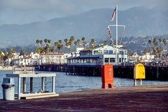 Santa Barbara Stearns Wharf stock foto