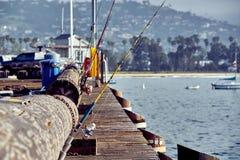Santa Barbara Stearns Wharf royalty-vrije stock afbeeldingen