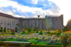 Santa Barbara-tuinen van Braga, Portugal stock foto's