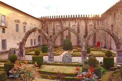 Santa Barbara-tuinen van Braga, Portugal stock afbeeldingen
