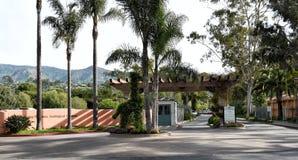 Santa Barbara Zoological Gardens Entrance fotografia de stock royalty free