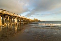 Santa Barbra, alba del molo di CA Stearns Fotografia Stock Libera da Diritti