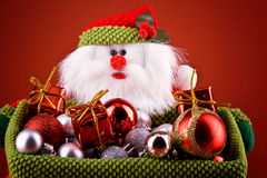 Santa basket Royalty Free Stock Images