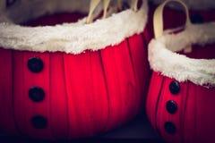 Santa Baskets stock image