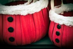 Santa baskets royalty free stock photos