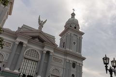 Santa bazylika Metropolitana Iglesia Catedral, Santiago de Kuba obraz stock
